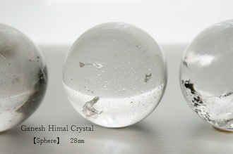 ガネーシュヒマール水晶 置き玉28㎜[完売]