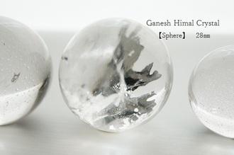 ガネーシュヒマール水晶 置き玉28㎜